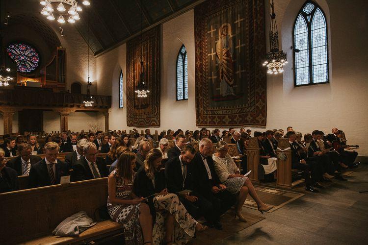 Church Wedding Ceremony | Rustic Barn Wedding in Norway | Christin Eide Photography