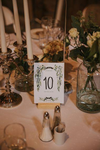 Table Name Card Wedding Stationery | Wedding Decor | Rustic Barn Wedding in Norway | Christin Eide Photography