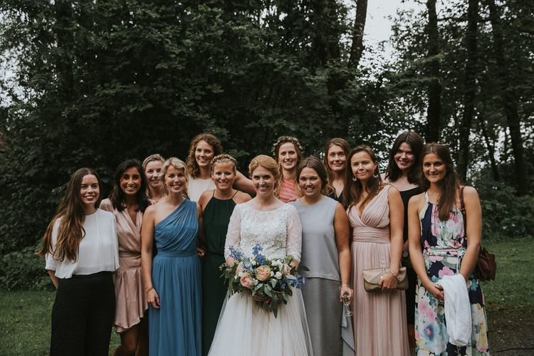 Bride in Willowby Watters 'Amelia' Gown |Rustic Barn Wedding in Norway | Christin Eide Photography