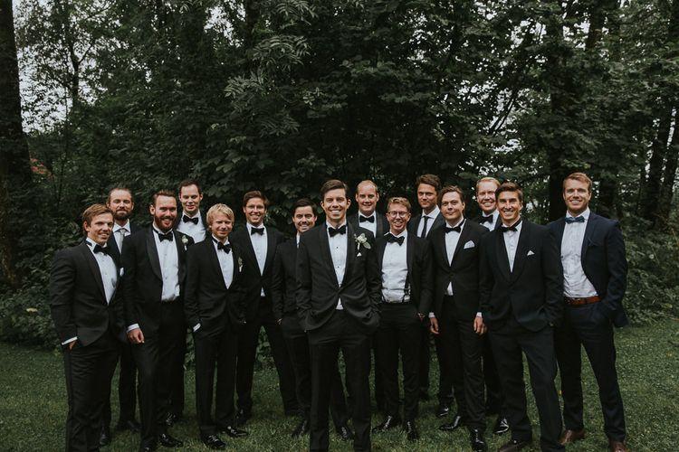 Groom in Hugo Boss Tuxedo | Rustic Barn Wedding in Norway | Christin Eide Photography