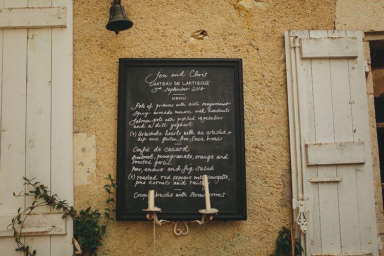 Blackboard Wedding Sign | Petar Jurica Photography