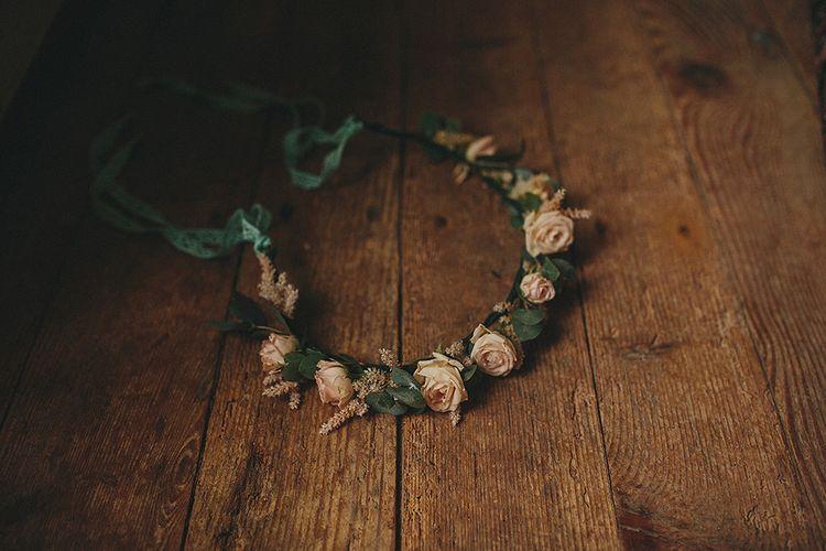 Blush Pink Rose Flower Crown | Petar Jurica Photography