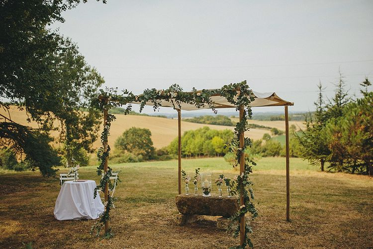 Altar | Destination Wedding at Chateau de Lartigolle,Pessan France | Petar Jurica Photography