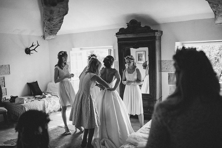Getting Ready | Bride in Jesús Peiró 3000 Dress from Morgan Davies Bridal | Petar Jurica Photography