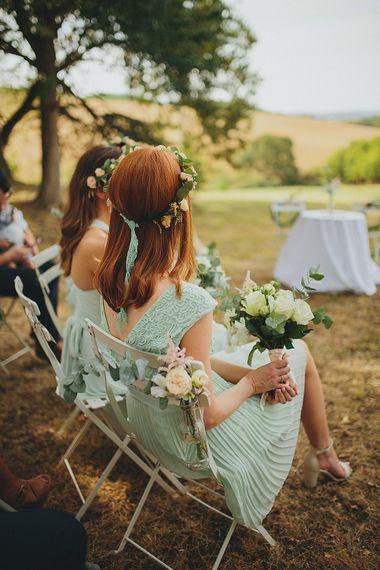 Bridesmaid in Mint Green Dress & Flower Crown | Petar Jurica Photography
