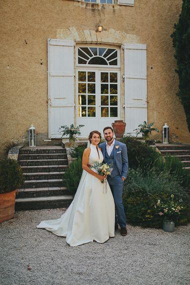Bride in Jesús Peiró 3000 Dress from Morgan Davies Bridal | Groom in New & Lingwood Three Piece Suit | Petar Jurica Photography