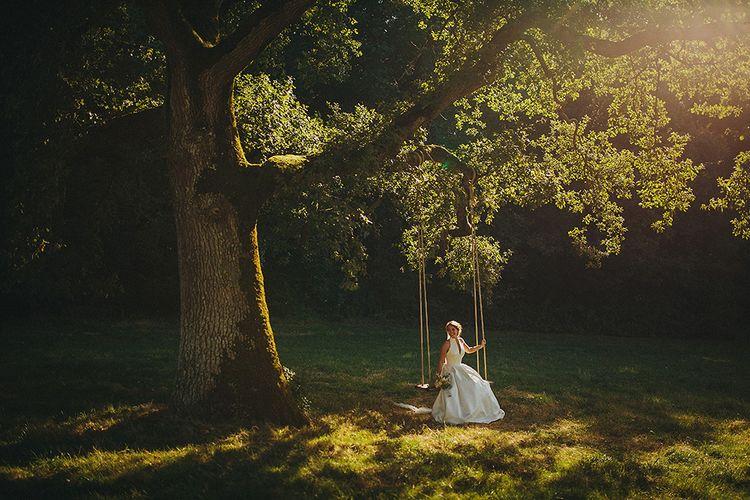 Bride in Jesús Peiró 3000 Dress from Morgan Davies Bridal | Petar Jurica Photography
