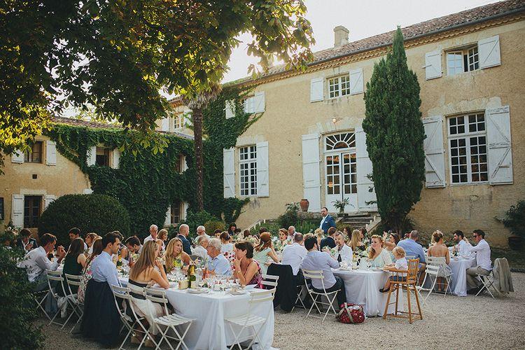 Al Fresco Wedding Breakfast | Destination Wedding at Chateau de Lartigolle,Pessan France | Petar Jurica Photography