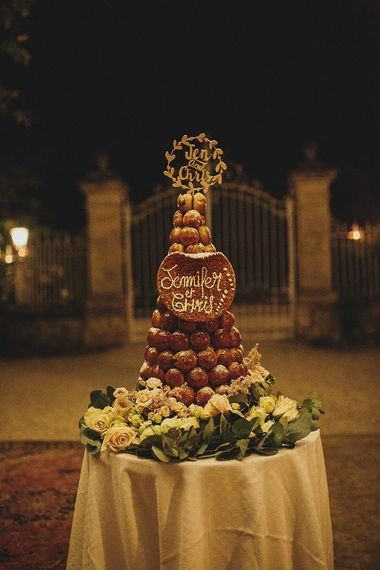 Wedding Cake | Destination Wedding at Chateau de Lartigolle,Pessan France | Petar Jurica Photography