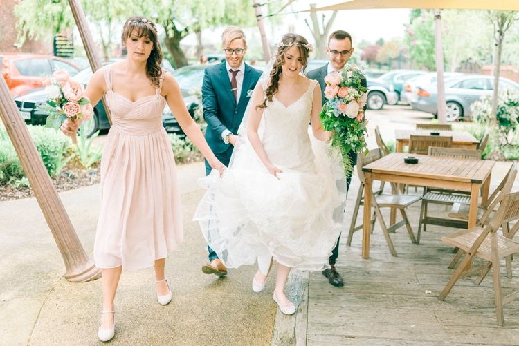 Pastel Wedding With A Epic Dessert Table & Sweet Bar Bride In Preloved Wedding Dress With Images By Sarah Jane Ethan & Matt Ethan Photography