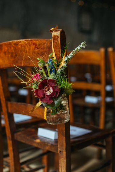 Chair Back Flowers | Helen Abraham Photography