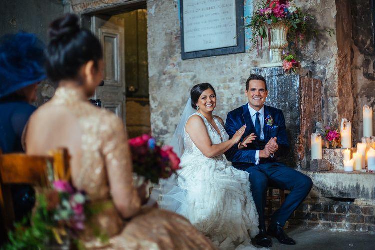 Wedding Ceremony at The Asylum Packham | Helen Abraham Photography