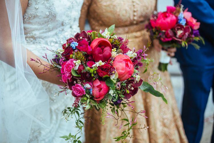 Pink Bridal Bouquet | Helen Abraham Photography