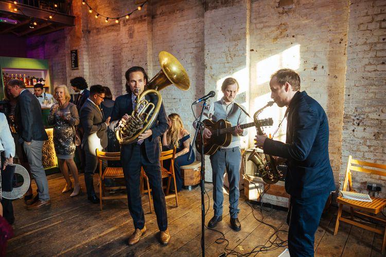 Jazz band | Bixton East Pub Wedding Reception | Helen Abraham Photography