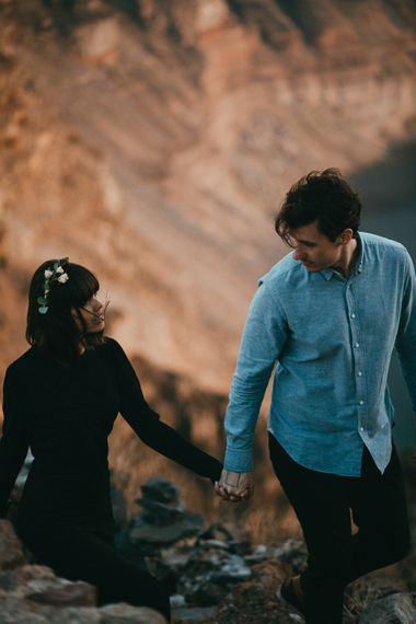 Santorini Engagement Shoot From LATO Photography Planned By Poema Weddings And Events // Destination Engagement Shoot Santorini Greece
