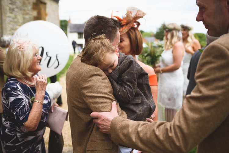 Church Wedding Ceremony | Sleeping Page Boy | Outdoor Tipi Wedding at The Georgian Rectory Buckingham | Jackson & Co Photography | Blooming Lovely Films