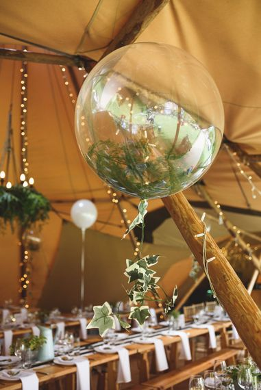 Giant Balloons | Outdoor Tipi Wedding at The Georgian Rectory Buckingham | Jackson & Co Photography | Blooming Lovely Films