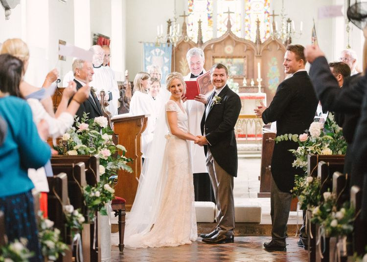 Church Wedding Ceremony with Bride in Charlie Brear Peyton Dress & Augustine Skirt