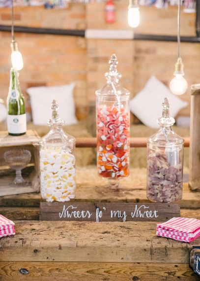 Sweet Table in Apothecary Jars