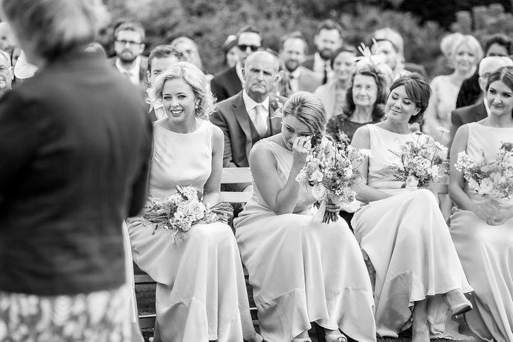 Bridesmaid Emotion at Outdoor Wedding Ceremony