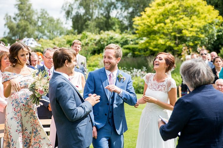 Outdoor Wedding Ceremony at Chaucer Barn, Norfolk