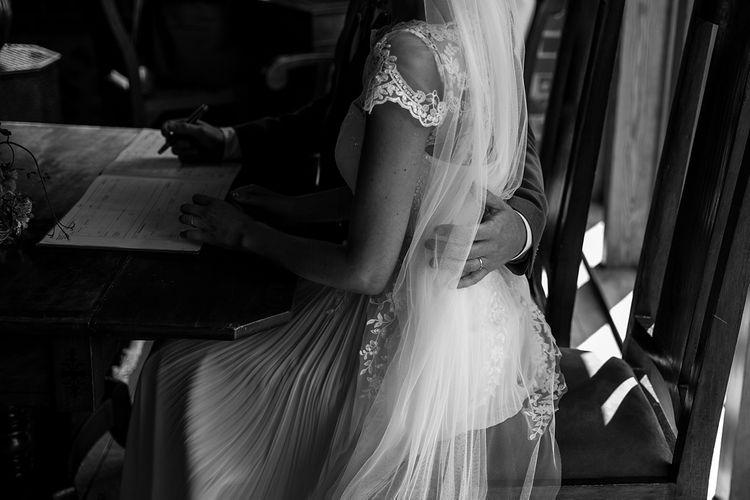 Bride in Raimon Bundo Infanta Wedding Dress