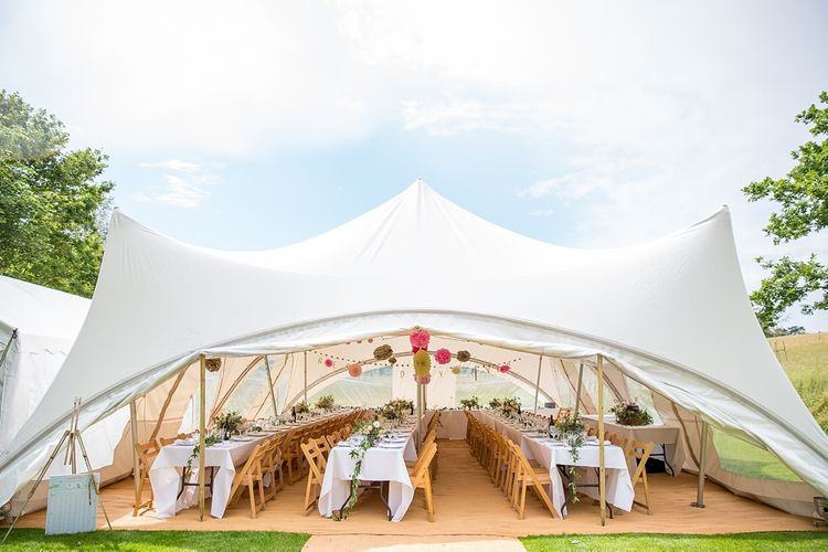 DIY Decorated Country Marquee at Chaucer Barn, Norfolk