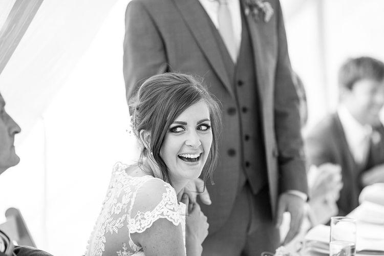 Bride during Wedding Speeches