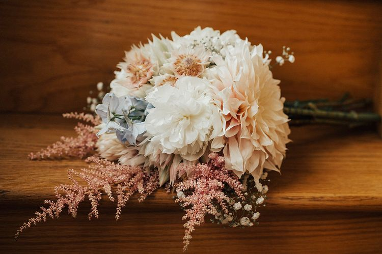 Pastel Bouquet | Outdoor Festival Beach Wedding at Aberdovey in Wales | Katie Ingram Photography