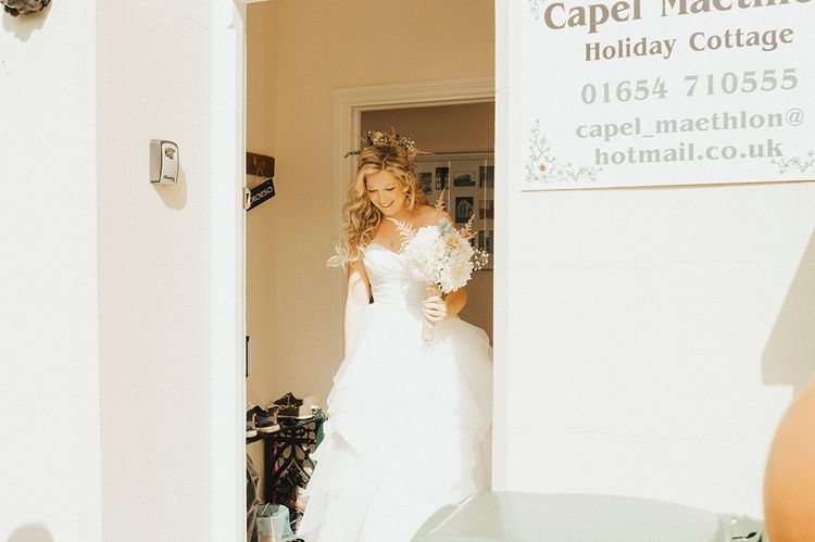 Bridal Preparations | Outdoor Festival Beach Wedding at Aberdovey in Wales | Katie Ingram Photography
