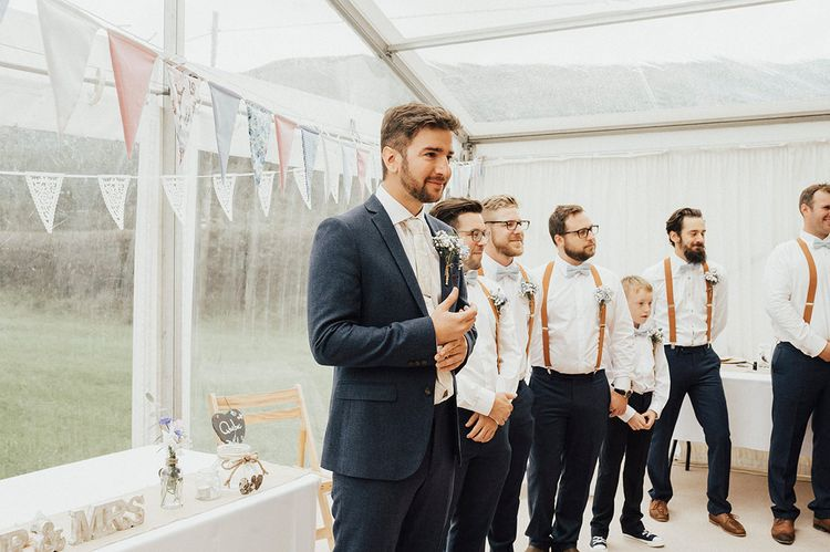 Outdoor Festival Beach Wedding at Aberdovey in Wales | Katie Ingram Photography