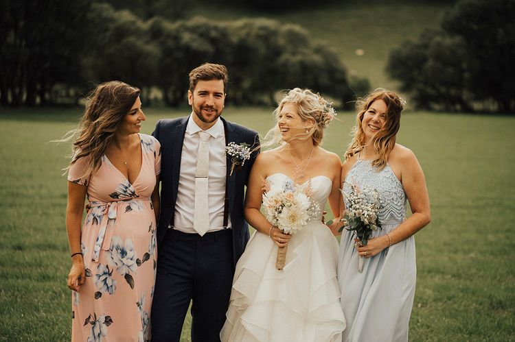 Wedding Guests | Outdoor Festival Beach Wedding at Aberdovey in Wales | Katie Ingram Photography