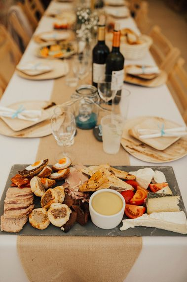 Food Platter | Outdoor Festival Beach Wedding at Aberdovey in Wales | Katie Ingram Photography