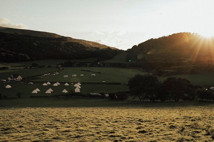 Bell Tents | Beach Wedding at Aberdovey in Wales | Katie Ingram Photography