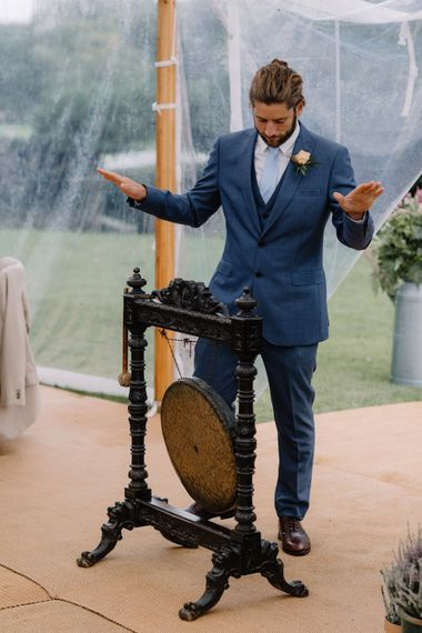 Speeches | Rural Wedding in a Sailcloth Tent on Stanford Hall Estate, Northamptonshire | Rebecca Goddard Photography