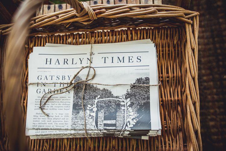 Personalised Wedding Newspaper