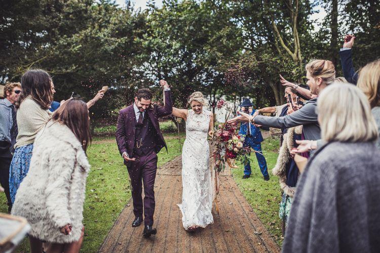 Bride & Groom Marquee Wedding In Cornwall