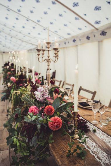 Autumnal Wedding Decor For A Marquee Wedding Cornwall