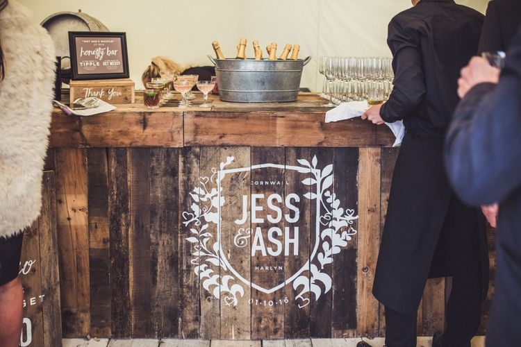 Personalised Bar For Wedding Reception From Made By Wood & Wood