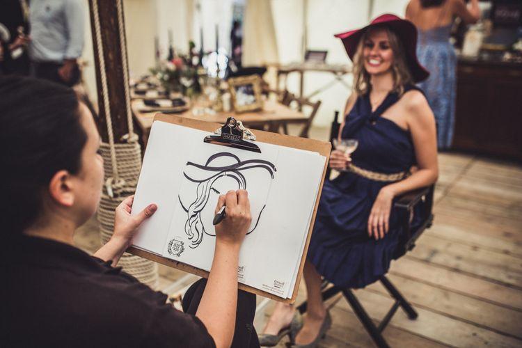 Cartoon Artist For Wedding Guests