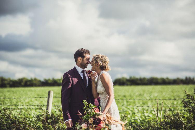 Bride & Groom Marquee Wedding Cornwall
