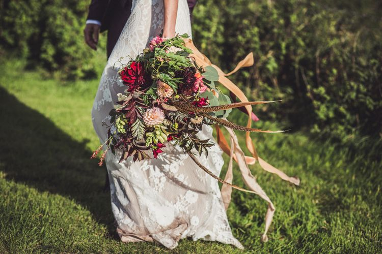 Oversized Bouquet With Feathers By Juliet Glaves