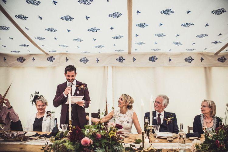 Wedding Speeches Marquee Wedding Cornwall