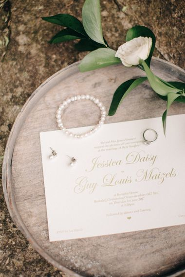 Emily & Jo Wedding Stationery & Bridal Accessories | Outdoor Pastel Country Garden Wedding at Barnsley House in Cirencester | M and J Photography | Motion Farm Wedding Films