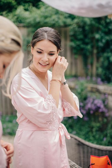 Wedding Morning Bridal Preparations | Outdoor Pastel Country Garden Wedding at Barnsley House in Cirencester | M and J Photography | Motion Farm Wedding Films