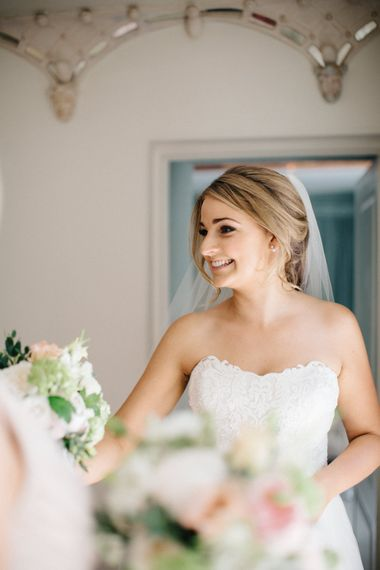 Bridal Beauty | Outdoor Pastel Country Garden Wedding at Barnsley House in Cirencester | M and J Photography | Motion Farm Wedding Films