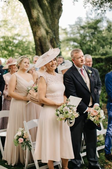 Mother and Father of the Bride | Outdoor Pastel Country Garden Wedding at Barnsley House in Cirencester | M and J Photography | Motion Farm Wedding Films