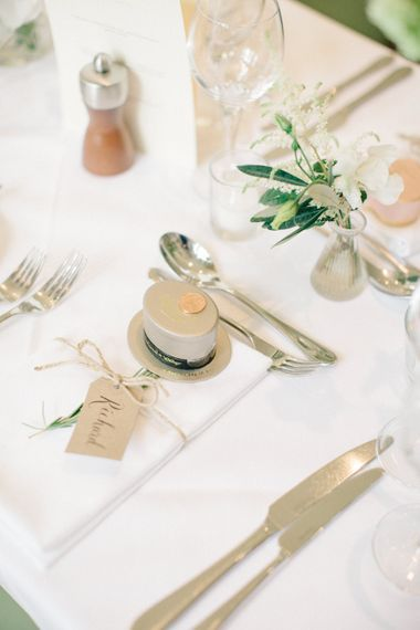 Place Setting | Outdoor Pastel Country Garden Wedding at Barnsley House in Cirencester | M and J Photography | Motion Farm Wedding Films