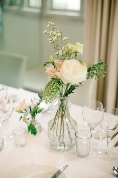 Flower Stems in Vases | Wedding Decor | Outdoor Pastel Country Garden Wedding at Barnsley House in Cirencester | M and J Photography | Motion Farm Wedding Films