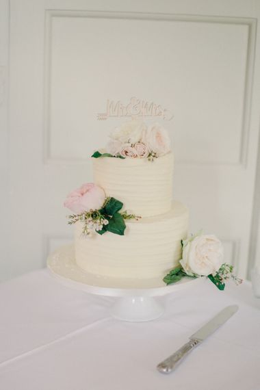 Elegant Wedding Cake | Outdoor Pastel Country Garden Wedding at Barnsley House in Cirencester | M and J Photography | Motion Farm Wedding Films